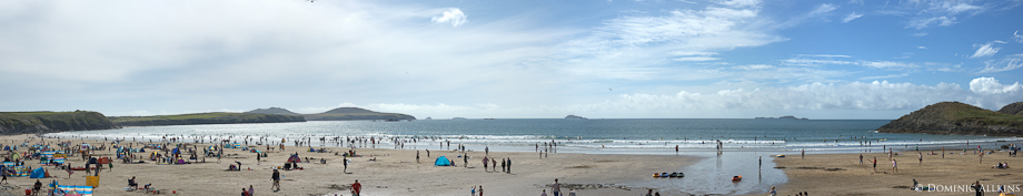 Panorama of Whitesands Bay, Pembrokeshire