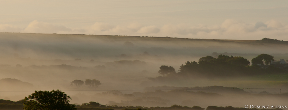 Picture of a misty sunrise over Pwll Deri, Pembrokeshire