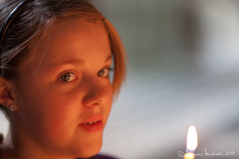 Picture of Meg by candlelight